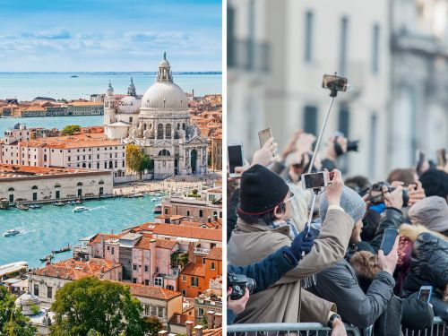 Disappointing photos show what Venice looks like in real life, from extreme overcrowding and devastating floods to pollution from cruise ships