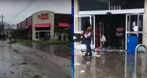 Raw Video Shows Dozens Of People Looting A Dollar Store As Flooding Cuts Wilmington Off From The Rest Of North Carolina