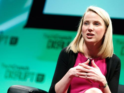 Marissa Mayer says she based her own management strategies on her former bosses at Google - 'hopefully with less yelling'