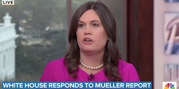 Sarah Huckabee Sanders says the Mueller probe was a 'two-year waste of taxpayer time and dollars,' calls the report a 'complete and total' exoneration of Trump