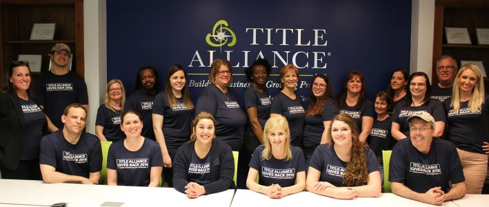 More Than 50 Title Alliance Offices Across 10 States Participate in 'Gives Back Week'