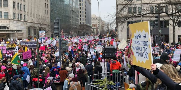 'We are here for all of us': Despite negativity surrounding the Women's March 2019, thousands rallied for unity in DC