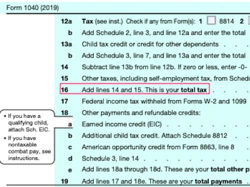 Here's exactly where to look on your 1040 tax return to see how much more you paid in taxes than Trump did