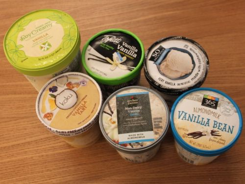 We tried 6 brands of non-dairy vanilla ice cream and the winner was clear