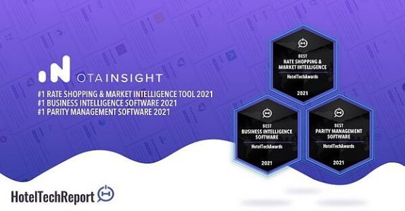 OTA Insight Announced Winner of Three 2021 HotelTechAwards Categories
