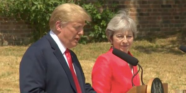 Trump says it's 'fake news' that he criticised Theresa May's Brexit plans