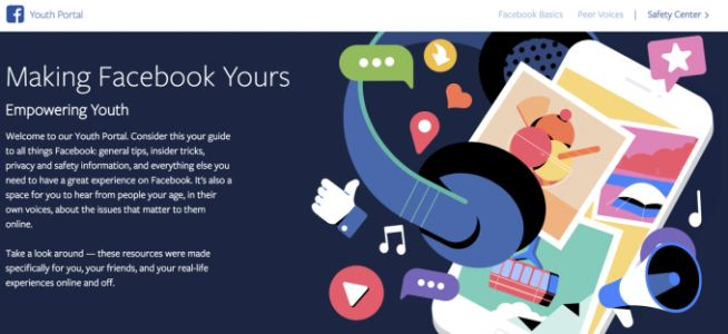 Facebook Creates Youth Portal to Give Teens Tips About Using Its Service