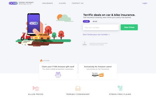 Amazon leads $12M investment in India-based digital insurance startup Acko