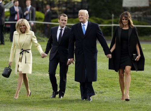 Here are the best photos from Macron and Trump's historic state visit