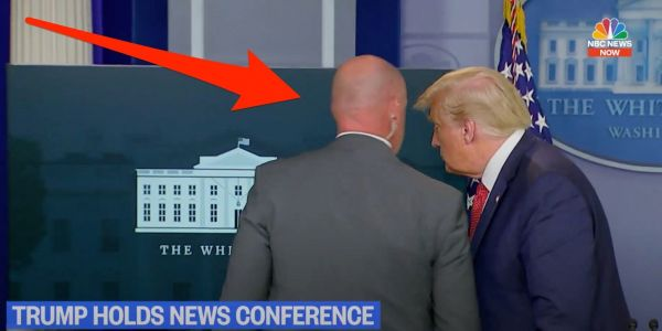 Trump rushed from White House Briefing Room by Secret Service minutes into his press conference