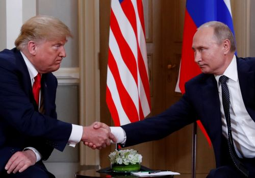 Putin handed Trump a soccer ball during a joint press conference and said 'the ball is in your court'