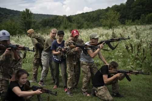 Inside a Ukrainian nationalist camp where kids are trained to kill Russian invaders