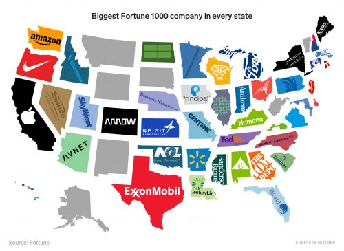 The biggest company in almost every US state
