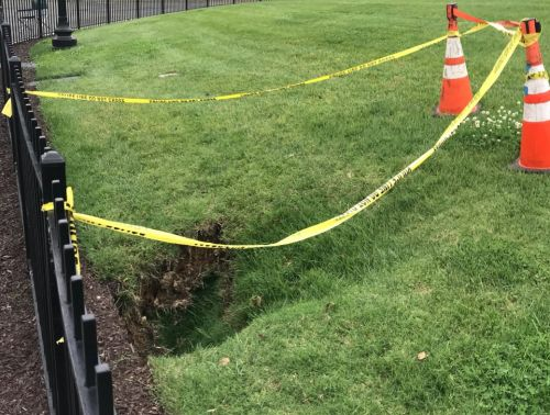 The White House lawn has developed a big sinkhole - here's probably what caused it