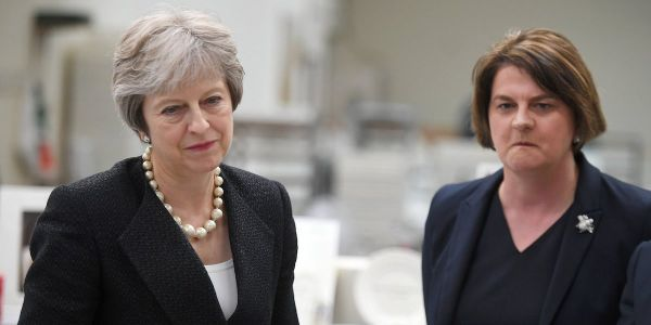 Theresa May's government is on the brink of collapse as DUP threatens to pull the plug
