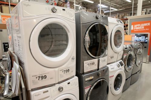 Kitchen appliances and washing machines are in short supply as families stuck inside turn to home-improvement projects