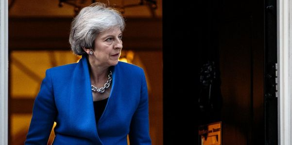 A car reportedly crashed into Theresa May's convoy in Belgium