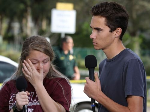 There's a false conspiracy theory that one of the teen survivors of the Florida shooting is an actor - and now he's speaking out