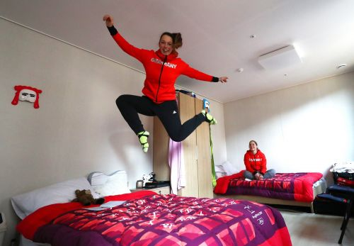 Churros, pranks, and hallway bobsleds: Here's what Winter Olympic athletes get up to during their chill time