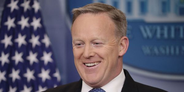 Sean Spicer's new book praises Trump as a 'unicorn riding a unicorn across a rainbow'