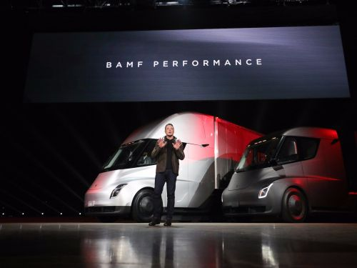 Tesla is rising after Anheuser-Busch places an order for 40 electric semis
