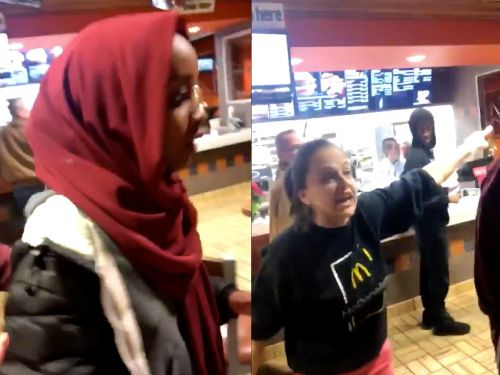 'I don't give a f--, get out of my store': McDonald's is under fire after a viral video shows worker forcing teens out of the fast-food restaurant as they protest that there is a threatening, gun-wielding man outside