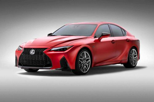 Lexus' new sports sedan packs a hardcore V8 in attempts to outshine its BMW and Mercedes rivals - see more