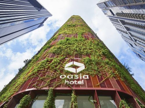 A giant hotel tower covered in plants was just named one of the most innovative real estate developments of 2017