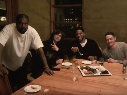 Pete Davidson says he got stuck paying the expensive bill from his dinner with Kanye West, Timothée Chalamet, and Kid Cudi
