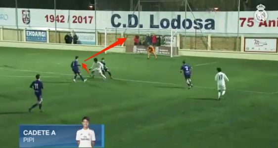 A 15-year-old dubbed 'Japan's Messi' scored a Barcelona-style goal for Real Madrid's under-16 team