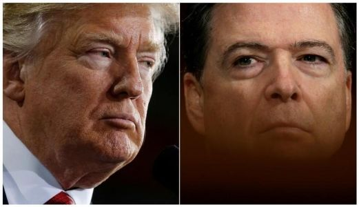 Trump says firing 'rotten apple' Comey was 'a great service' to the US