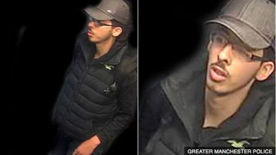 Manchester police release images of bomber moments before arena blast