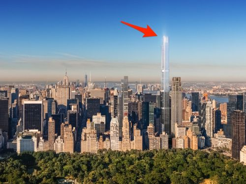 The tallest residential building in NYC just listed its first condos, and the priciest is a $63 million unit on the 112th floor. Here's what the Billionaires' Row tower will look like when it's finished in 2020