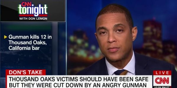"Don Lemon asks Trump which caravan the Thousand Oaks shooter belonged to as he doubles down on claim that America's biggest threat is ""homegrown killers"""
