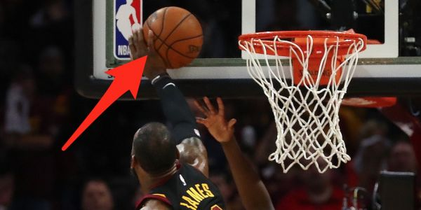LeBron James' game-saving block may have actually been a violation that the refs missed