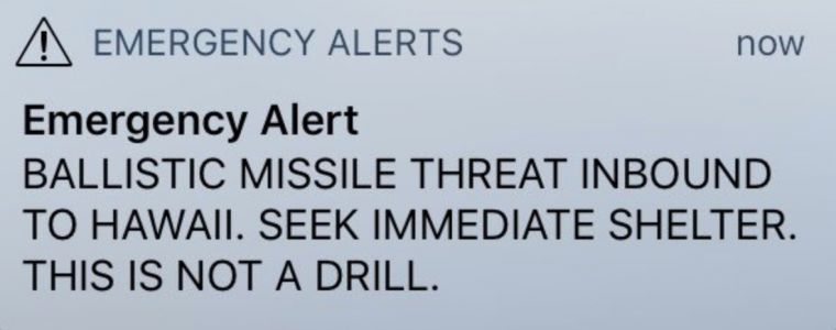 Hawaii lawmakers say false alarm of inbound ballistic missile was 'totally unacceptable'