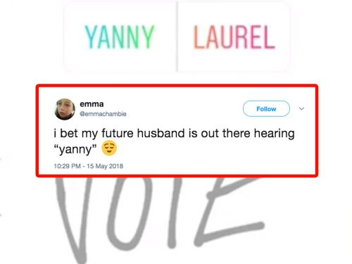 22 of the funniest tweets about The Great Laurel or Yanny Debate of 2018