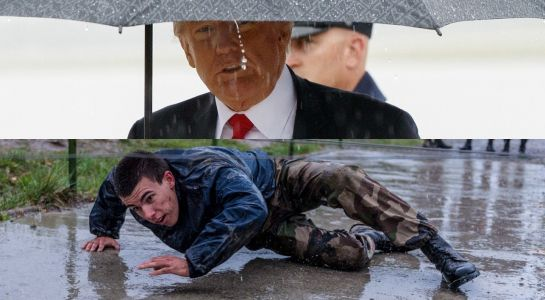 France's army appears to troll Trump for missing a WWI memorial due to rain