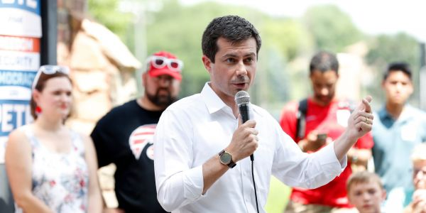 Pete Buttigieg rebuked a man in Iowa who said 'tell the black people of South Bend to stop committing crime and doing drugs'