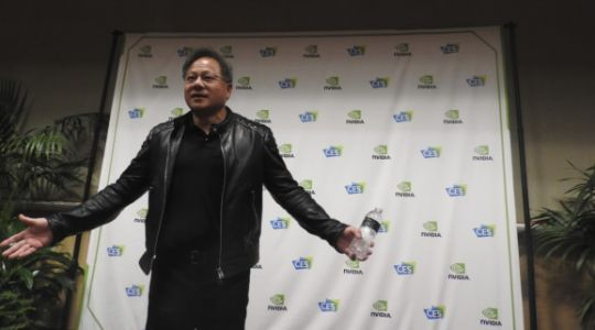Nvidia's Jensen Huang goes off script with CES 2018 Q&A