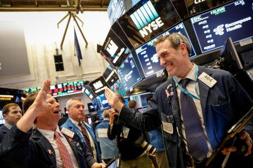 The Dow jumps as much as 400 points