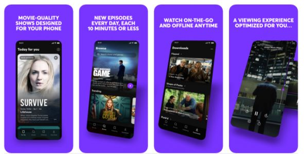 Quibi's streaming service app launches in app stores for pre-order