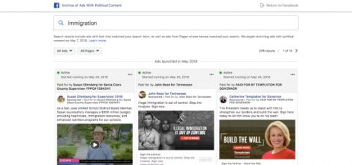 Facebook releases its U.S. political ad archive