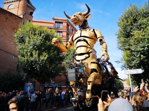Giant robotic spider and minotaur turned streets of Toulouse into massive labyrinth