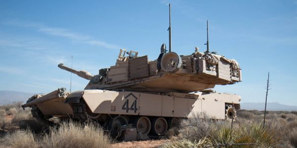 We got an up-close look at an M1 Abrams tank training in the desert and saw why it's still king of the battlefield