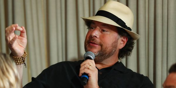 Salesforce CEO Marc Benioff reportedly scandalized Cisco's board by video-calling in to meetings from an elliptical machine in Hawaii
