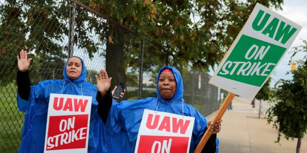GM tumbles on first union strike in 12 years, which could cost it $50 million a day