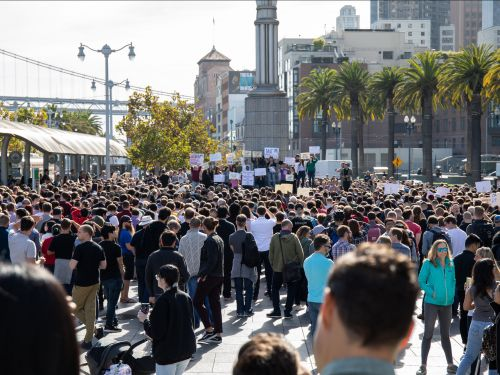 Here's what it was like at the Google walkout protest in San Francisco