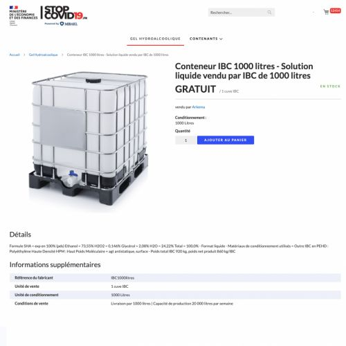 France launches marketplace to manage essential products against COVID-19