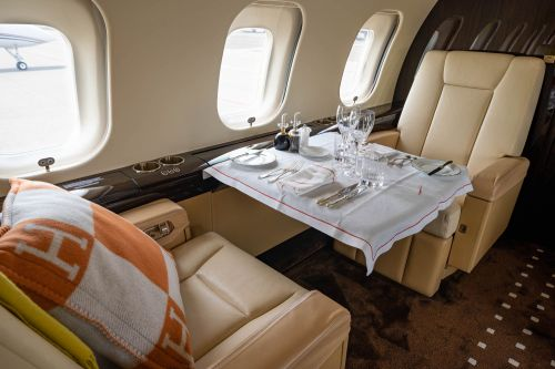 Take a tour of the private jet that a billionaire CEO flies around the world